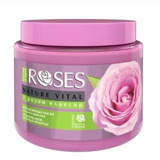 Maska na vlasy Ruža Nature of AGIVA ROSES NATURE Vita ,500 ml